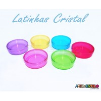 50 Latinhas de Acrílico 5X1,6cm - Mint To Be