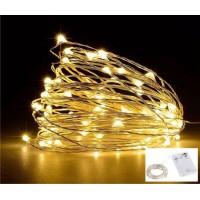 Luz De Fada Micro fio de Led cor Branco Quente - 2,2 Metros