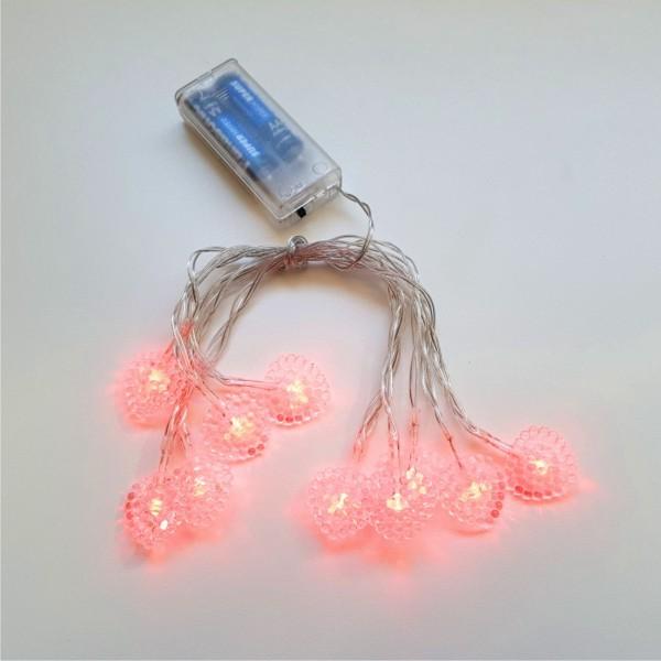 Cordão de Luz Lampadas Coração - 10 Lampadas