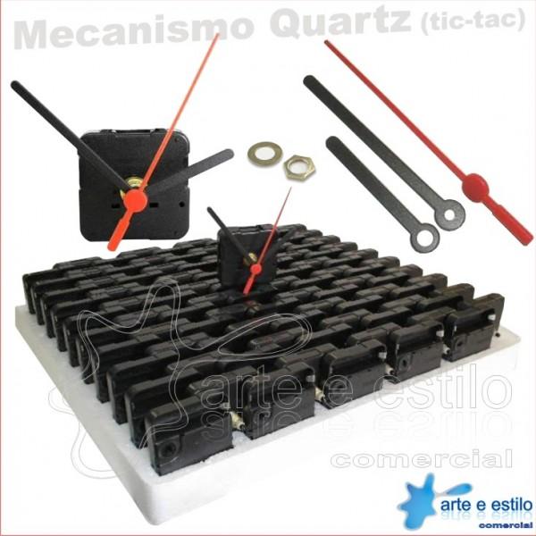 PROMOÇÃO - 100 Máquinas de relogio QUARTZ (Tic-Tac) eixo 13 (5,5 mm de rosca) Sem alça R$1,89 cada