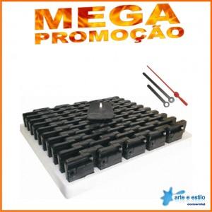 MEGA PROMOÇÃO - 100 Máquinas de relógio QUARTZ (Tic-Tac) eixo 09 (sem rosca) sem alça R$1,89 cada