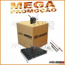 MEGA PROMOÇÃO - 500 Máquinas de relógio QUARTZ (Tic-Tac) eixo 13 (5,5 mm de rosca) Com alça R$1,79 cada