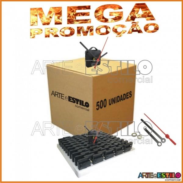 MEGA PROMOÇÃO - 500 Máquinas de relógio QUARTZ (Tic-Tac) eixo 13 (5,5 mm de rosca) Com alça