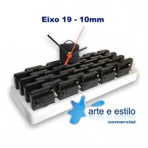 20 Máquinas de relogio QUARTZ Eixo 19 (10 mm de rosca) Com alça