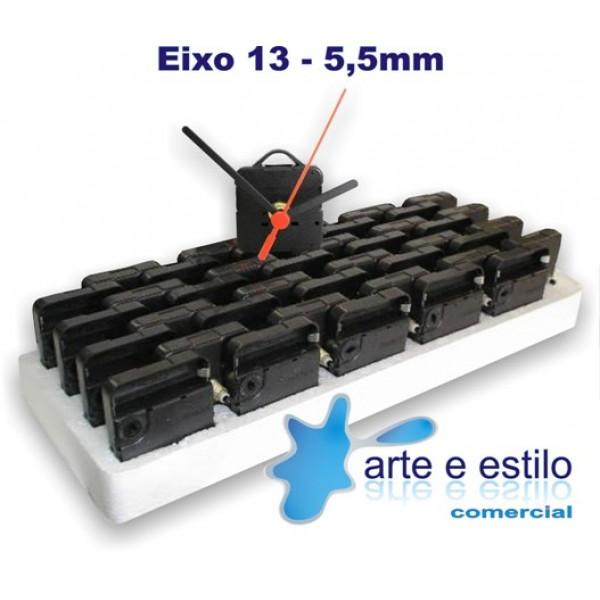 20 Máquinas de relogio QUARTZ (Tic-Tac) eixo 13 (5,5 mm de rosca) Com alça