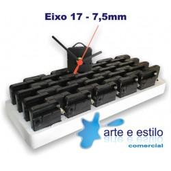 20 Máquinas de relogio QUARTZ (Tic-Tac) eixo 17 (7,5 mm de rosca) Com alça