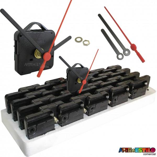 20 Máquinas de relógio QUARTZ (Tic-Tac) eixo 21 (15 mm de rosca) Com alça