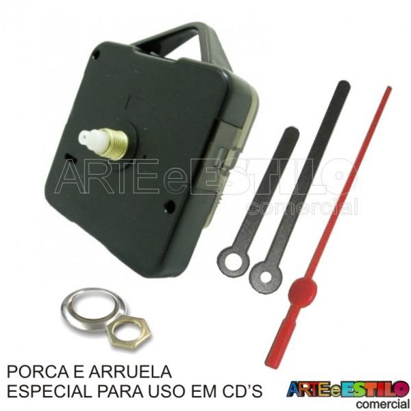 50 Maquinas de relogio QUARTZ (Tic-Tac) PARA USO EM CD'S eixo 13 (5,5 mm de rosca) com alça R$2,35