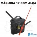 PROMOÇÃO - 100 Máquinas de relógio QUARTZ (Tic-Tac) Eixo 17 (7,5 mm de rosca) Com alça R$1,95