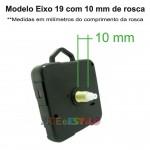 PROMOÇÃO - 100 Máquinas de relógio Continuas eixo 19 (10 mm de rosca) Com alça R$1,99