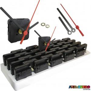 20 Máquinas de relogio (Tic-Tac) eixo 13 (5,5 mm de rosca) Sem alça