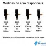 50 Máquinas de relógio Continuas eixo 17 (7,5 mm de rosca) com alça R$1,99 cada