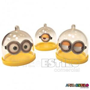 06 Mini Cupulas Grandes Mod Minions 6X6 cm de Acrilico / Redoma de Acrilico - Só R$1,29 cada