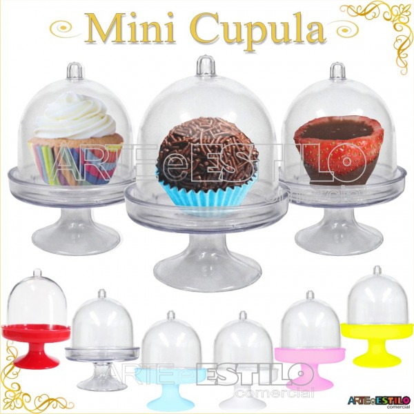 Só R$0,88 cada - Mini Cupula de Acrilico / Redoma de Acrilico - Emb. com 100 unidades