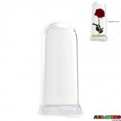 Redoma Cúpula de Acrílico com Base Transparente - Modelo G - 19 cm - Só R$12,50