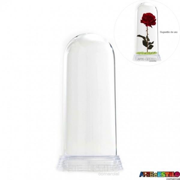 Redoma Cúpula de Acrílico com Base Transparente - Modelo G - 19 cm - Só R$11.90