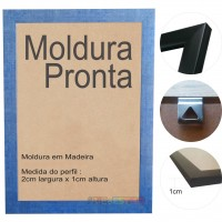 10 Molduras Prontas A4 - 21x30 Cor Azul