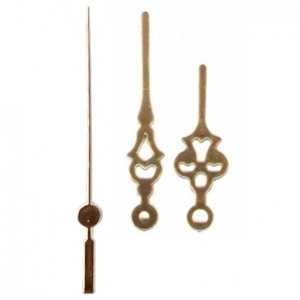 10 jogos de ponteiros Colonial Grande (6,5 cm) - Dourado - Prata
