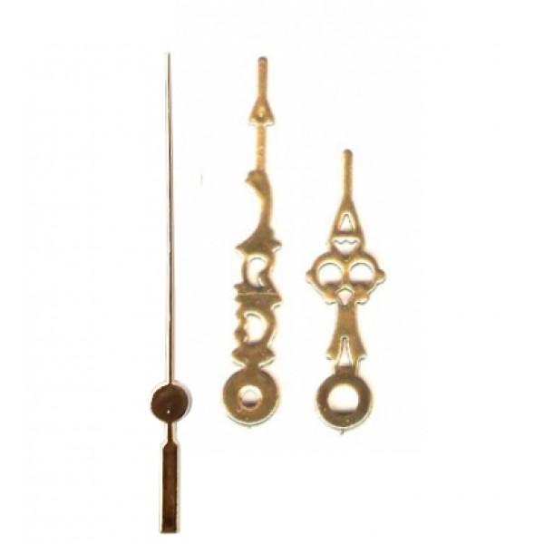 10 jogos de ponteiros luiz XV Médio (5,5 cm) - Dourado - Prata