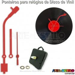 ddddbc0d67a Toca Discos 13cm + Mecanismos para relogio de disco
