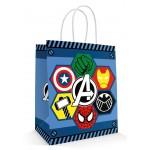 10 Sacolas Vingadores Avengers Liga Justiça - 18x09x22 cm