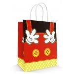 10 Sacolas Botão Amarelo - Similar Mickey - Aminais 18x09x22 cm