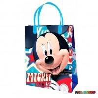 12  Sacolas de Plástico da Mickey Licenciada 21 X 25 X 8 cm