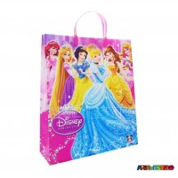 12  Sacolas de Plástico da Princesas Disney 21 X 25 X 8 cm