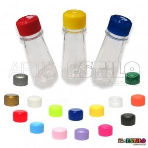 10 Frasco modelo Torre c/ tampas em diversas cores - Só R$0,59 cada !!!!