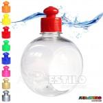 Emb c/ 10 Squeezes para personalizar 300 ml c/ tampa - Transparente