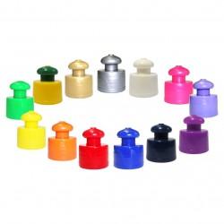 500 Tampas Push Pull rosca R-28 para squeezes, garrafinhas, cantis   R$0,35 cada