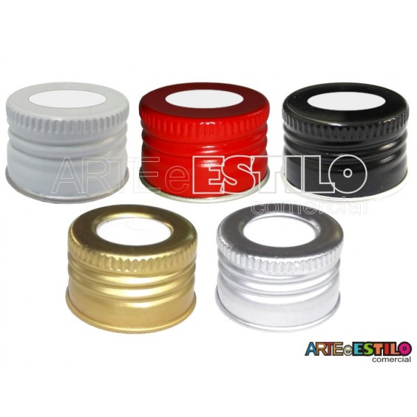 50 Tampas de Metal R-28 com furo para uso em Difusores Aromatizantes - R$0,39 cada