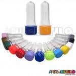 100 Mini Tubetes com tampa, preformas, tubo de ensaio 08cm só R$0,29 cada