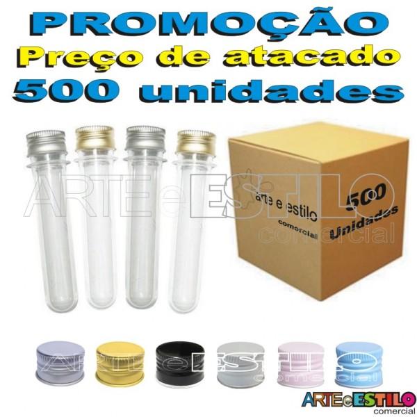 500 Tubetes tampa Metal, tubo de ensaio 13cm R$0,62 cada