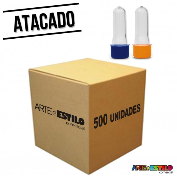 500 Mini Tubetes com tampa, preformas, tubo de ensaio 08cm - Só R$0,28 cada