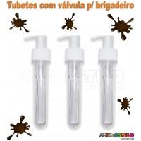 10 Tubetes c/ Valvula p/ Brigadeiro a Jato 13cm - Só R$1,29 cada