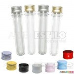PROMOÇÃO - Emb c/ 50 Tubetes tampa Metal, tubo de ensaio 13cm R$0,68 cada