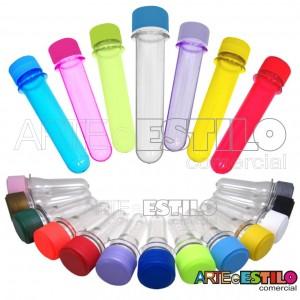 10 Tubetes com tampa, preformas, tubo de ensaio 13cm só R$0,55 cada