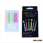 6 Velas com Chama Colorida - Color Flame